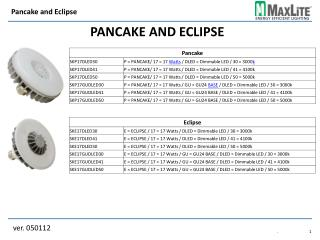PANCAKE and eclipse