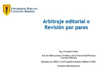 Arbitraje  editorial  o Revisión por pares