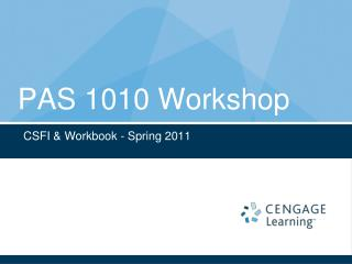 PAS 1010 Workshop