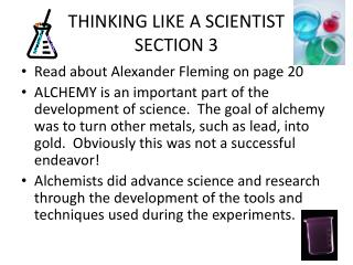 THINKING LIKE A SCIENTIST SECTION 3