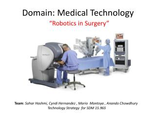 Domain: Medical Technology