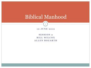 Biblical Manhood
