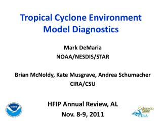 Tropical Cyclone Environment  Model Diagnostics