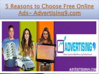 Top 5 Reason to GO Online-Advertising9.com