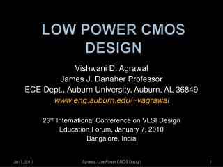 Low Power CMOS Design