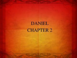 DANIEL CHAPTER 2
