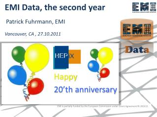 EMI Data,  the second year