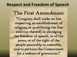 Respect and Freedom of Speech