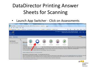 DataDirector Printing Answer Sheets for Scanning