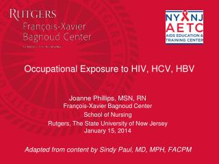 Occupational Exposure to HIV, HCV, HBV