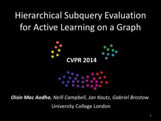 Hierarchical  Subquery  Evaluation for Active Learning on a Graph