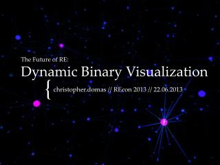 The Future of RE: Dynamic Binary Visualization