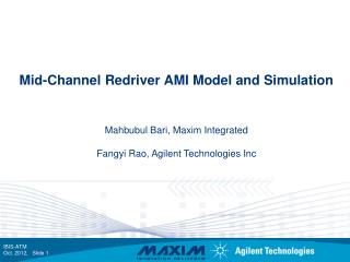 Mid-Channel Redriver AMI Model and Simulation