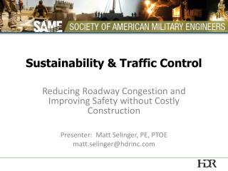 Sustainability & Traffic Control
