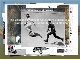 Winners and Losers:   The Cost and Effects of Agriculture Subsidies and  Dumping on the United States and Mexico      Ja