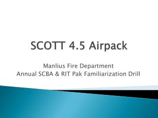 SCOTT 4.5  Airpack