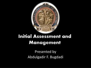 Initial Assessment and Management