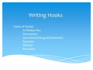 Writing Hooks