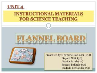 INSTRUCTIONAL MATERIALS FOR SCIENCE TEACHING