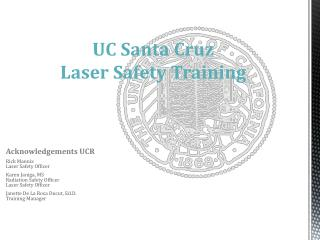 UC Santa Cruz Laser Safety Training