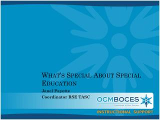 What's Special About Special Education