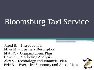 Bloomsburg Taxi Service