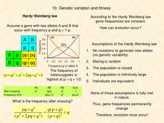 10. Genetic variation and fitness