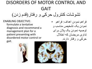 DISORDERS OF MOTOR CONTROL AND GAIT تشوشات  کنترول حرکی و رفتار(قدم زدن)