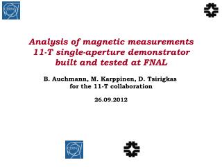 Analysis of magnetic measurements 11-T single-aperture demonstrator built and tested at FNAL
