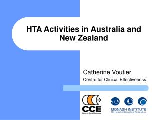 HTA Activities in Australia and New Zealand