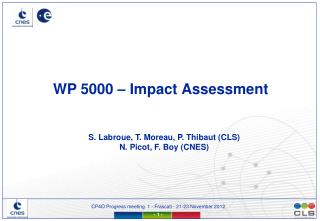 WP 5000 –  Impact  Assessment
