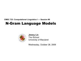 N-Gram Language Models