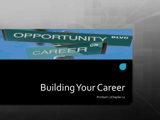 Building Your Career