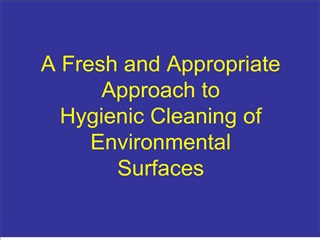 A Fresh and Appropriate Approach to  Hygienic Cleaning of Environmental Surfaces
