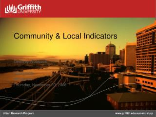 Community & Local Indicators