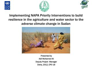Presented by Adil Mohamed Ali Deputy Project  Manager Doha, 2012, CPO 18