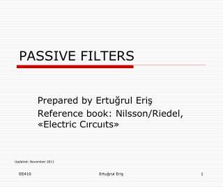 PASSIVE FILTERS