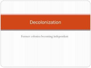 Decolonization