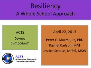 Resiliency A Whole School Approach