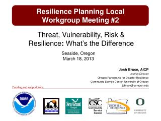 Resilience Planning Local  Workgroup  Meeting #2