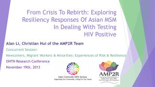 Alan  Li, Christian  Hui of the AMP2R Team Concurrent Session: