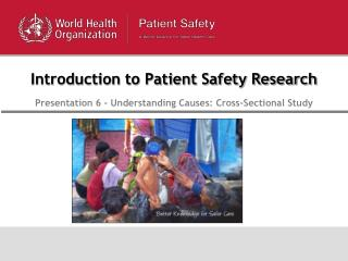 Introduction to Patient Safety Research