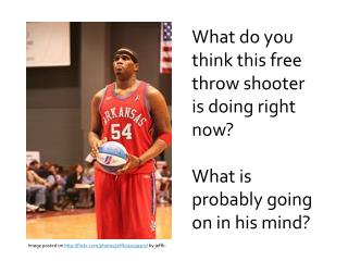 What do you think this free throw shooter  is doing right now?