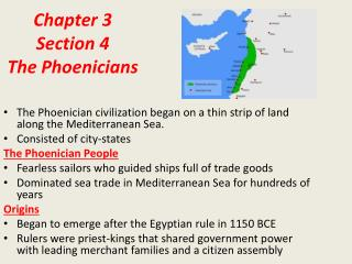 Chapter 3 Section 4 The Phoenicians