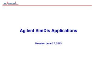 Agilent  SimDis  Applications