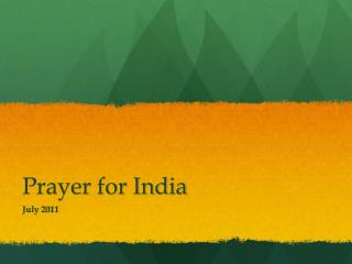 Prayer for India