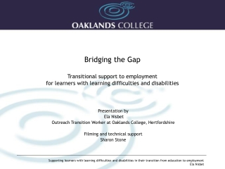 Transitional Support for Disabled Students from FE  - HE