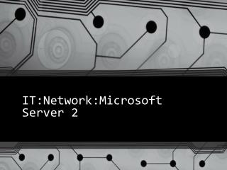 IT:Network:Microsoft Server 2