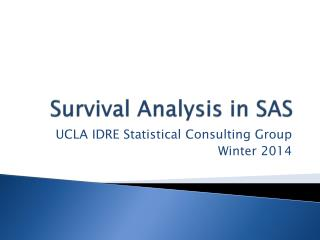 Survival Analysis in SAS