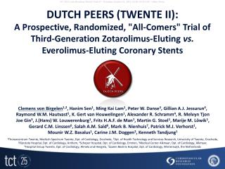 DUTCH PEERS (TWENTE II):